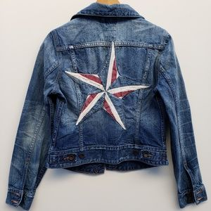 Lucky Brand denim jacked embroidered star small